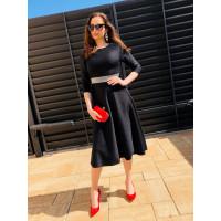 Čierne spoločenské šaty Mapela