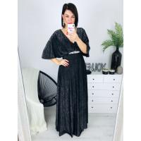 Dámske čierne spoločenské šaty
