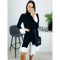 Dámske svetríkové čierne šaty