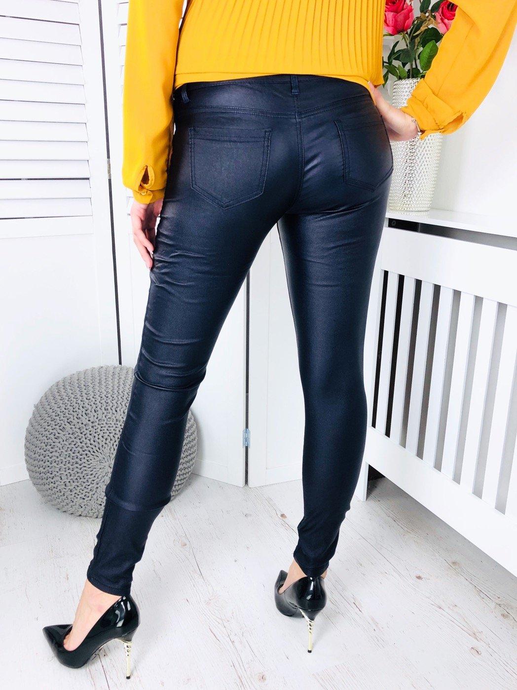 659cd39d7298 Dámske koženkové nohavice