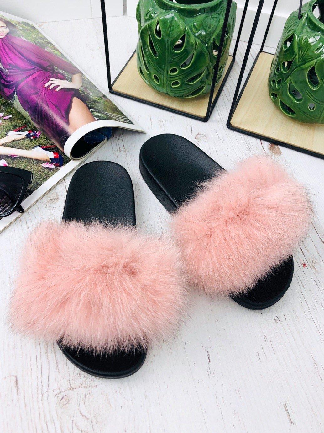ad692b39b Ružové šľapky s pravou kožušinou | WEBmoda.sk - štýlová móda lacno